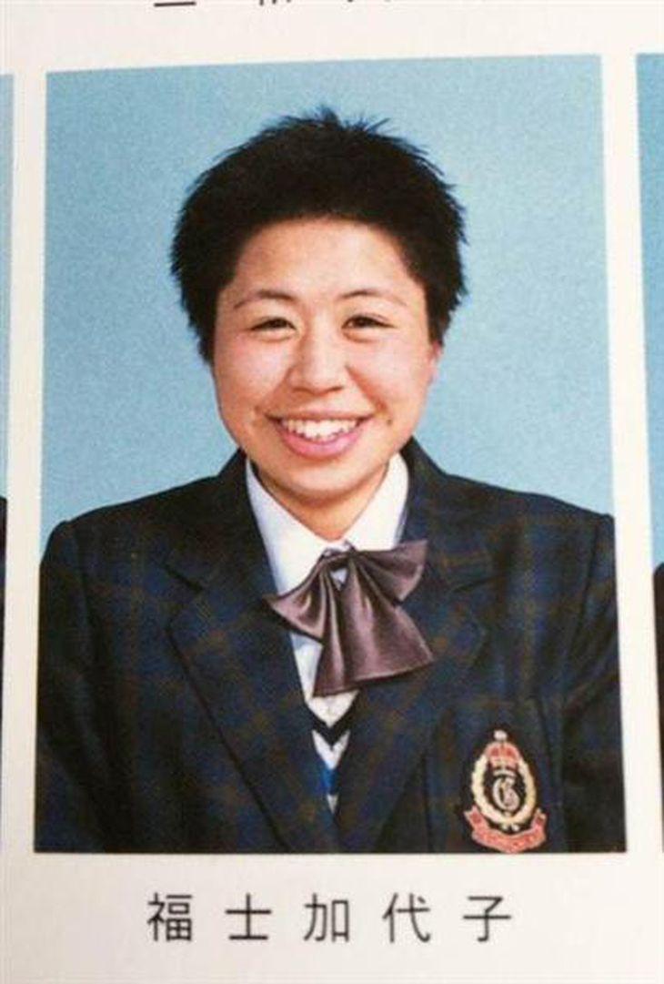 陸上を始めた高校時代の福士加代子。明るい性格は昔から変わらないという(福士正幸さん提供)
