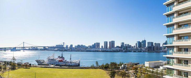 東京湾の景色が望める2020年東京五輪・パラリンピックの選手村のイメージ(Tokyo2020提供)