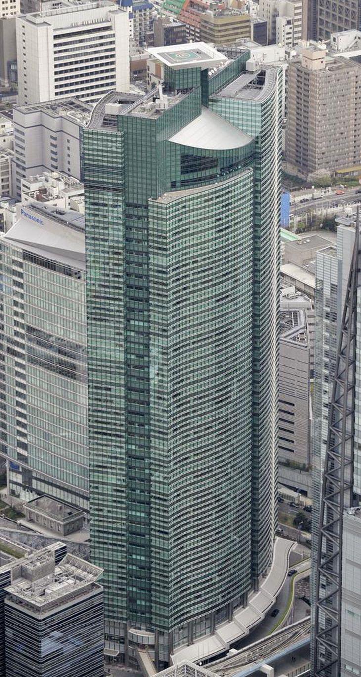 富士通の本社事務所が入るビル=東京都港区