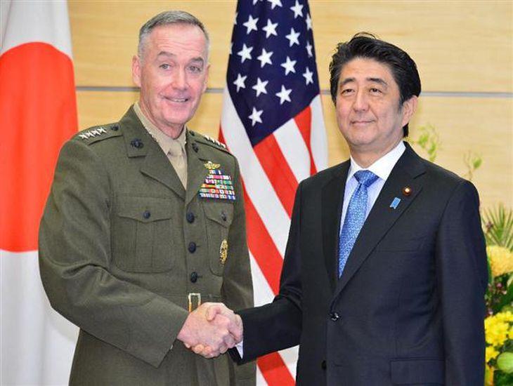 安倍首相、米軍制服組トップと会談