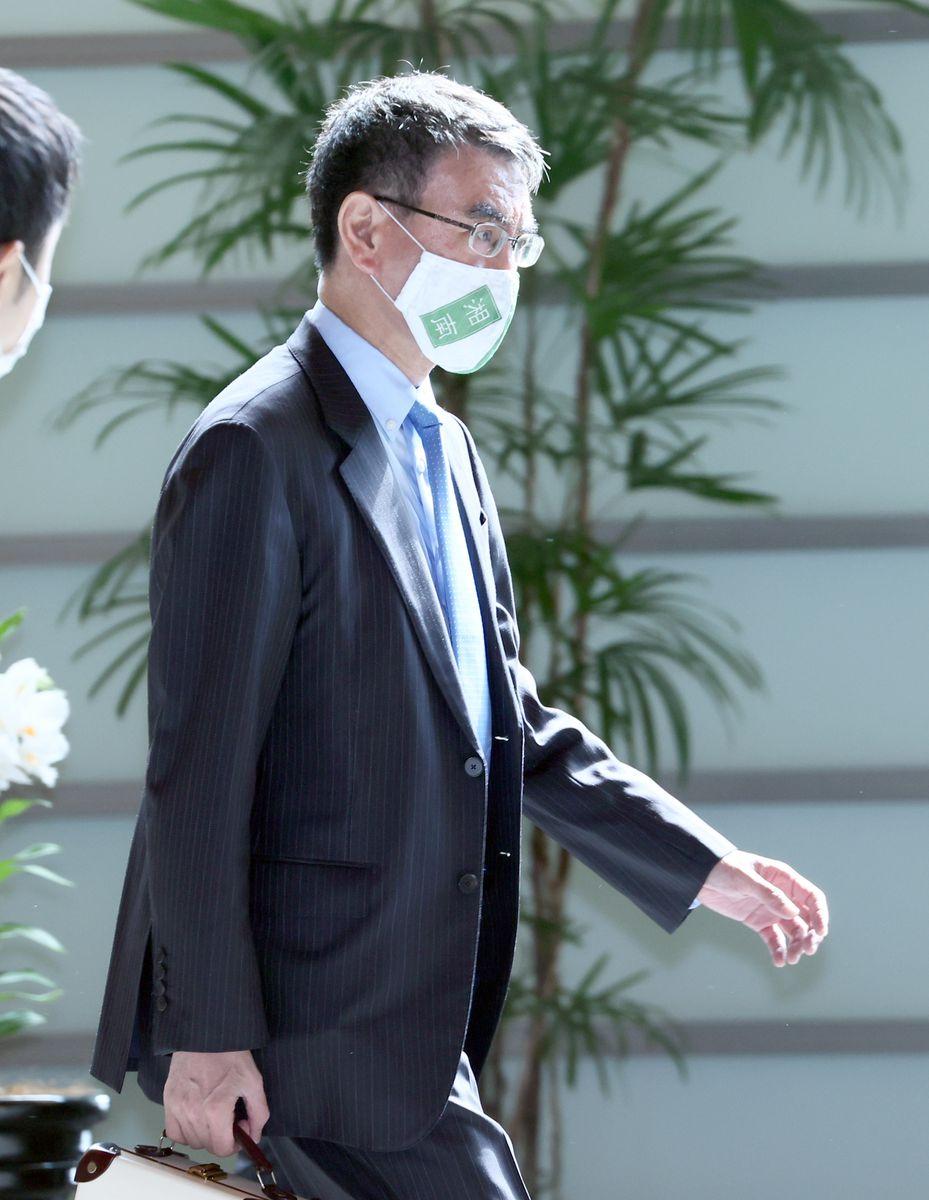 河野太郎行政改革担当相(春名中撮影)