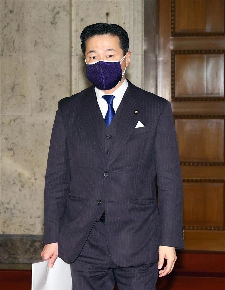 立憲民主党・福山哲郎幹事長=24日午後、国会内(春名中撮影)