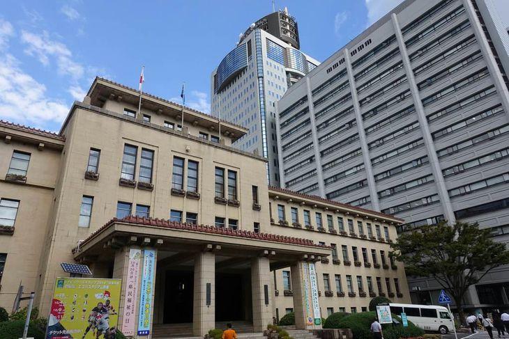 静岡県庁=静岡市葵区(那須慎一撮影)