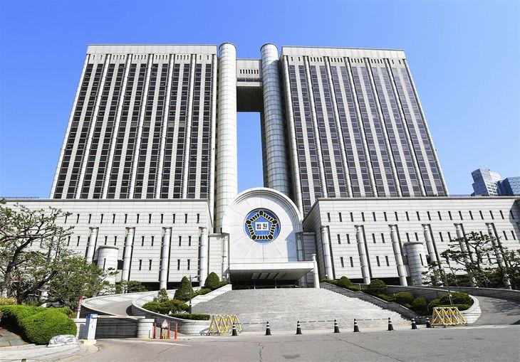 ソウル中央地裁の入る庁舎=21日(共同)