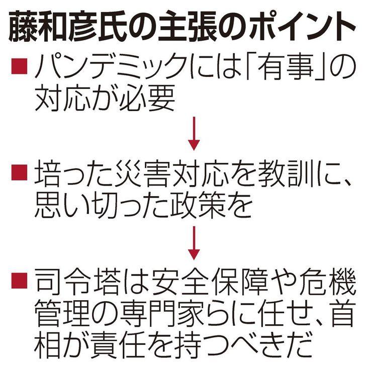 【コロナ直言】(2)有事の視点欠如 災害対応で臨め 藤和彦氏