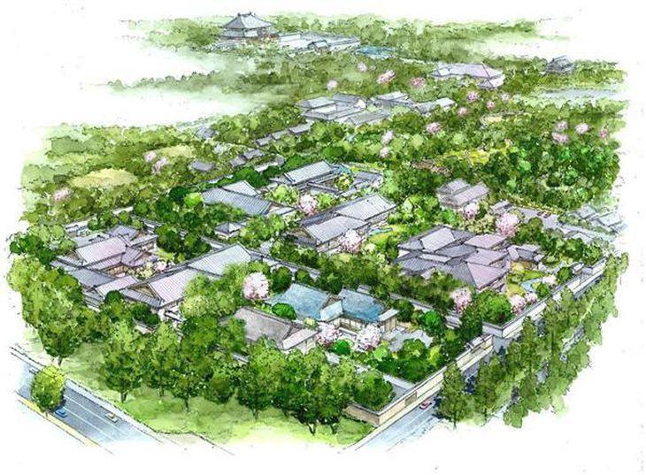 吉城園周辺整備の完成イメージ(森トラストの提案概要書より)