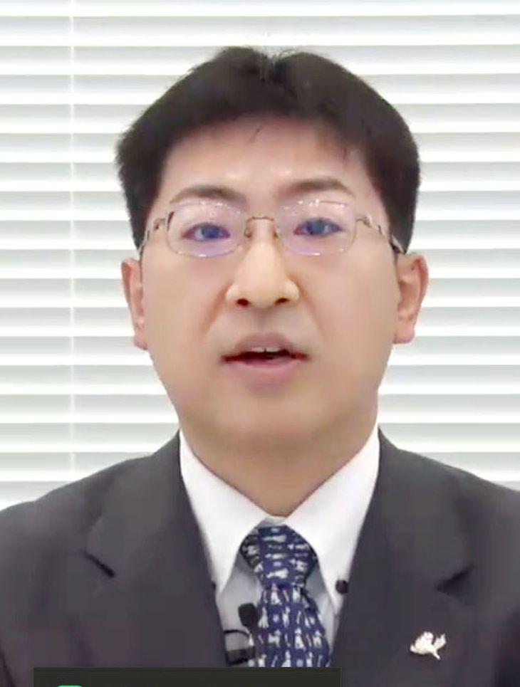 記者会見する、Zホールディングスの第三者委の宍戸常寿座長=11日
