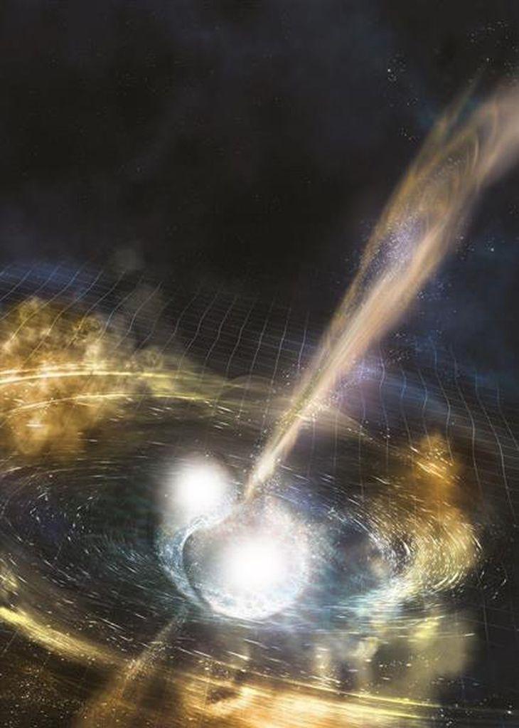 中性子星の合体で重力波 米欧が初検出 日本も追跡観測で貢献、金の起源か