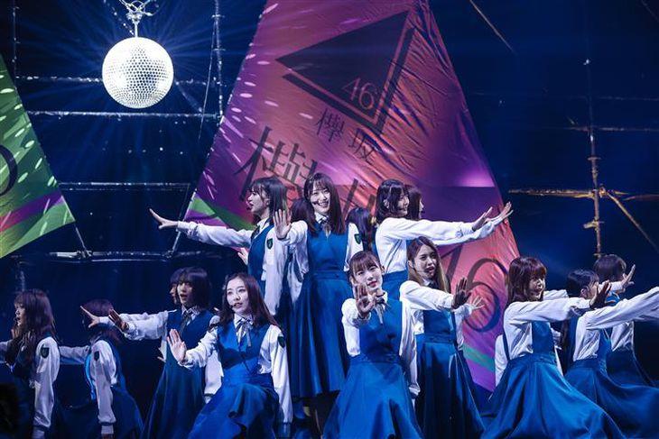 初の生配信ライブを行った欅坂46。パフォーマンスできる喜びを感じながら、10カ月ぶりのステージで躍動した